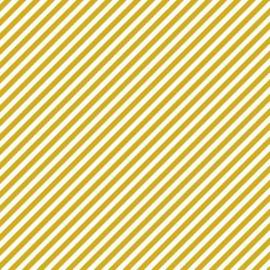 Tissuepapier | Gele strepen | 5 stuks