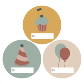 Stickers | Multi party | 9 stuks