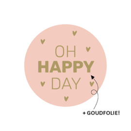 Sticker | Oh happy day | Per stuk