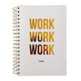 Planner | Work work work | Off white