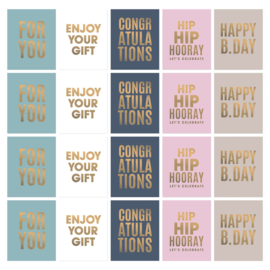 Stickers | Happy birthday | 10 stuks