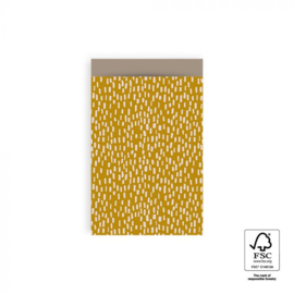 Kadozakjes M | Sparkles  geel | 5 stuks
