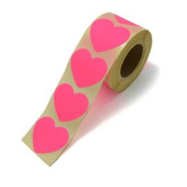 Stickers | Hart Neon roze | 10 stuks
