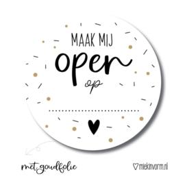 Stickers | Maak mij open op | 10 stuks