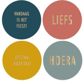 Stickers | Multi color | 8 stuks