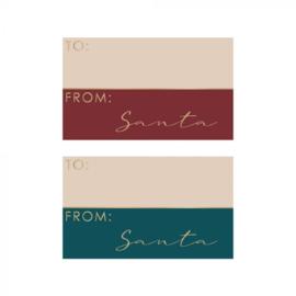 Stickers | From santa | 10 stuks