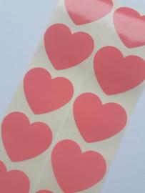 Stickers | Hart perzikroze | 10 stuks