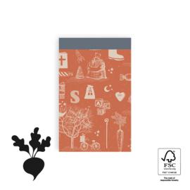 Kadozakjes M | Sint vintage | 5 stuks