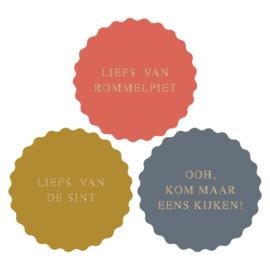 Stickers   Liefs van de sint   9 stuks
