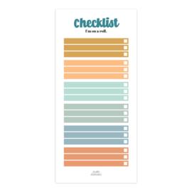 Notitieblok   Checklist