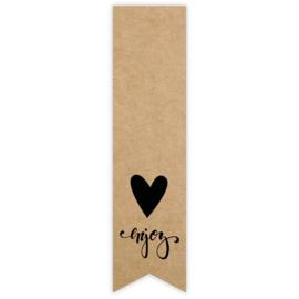 Stickers | Label Enjoy | 10 stuks