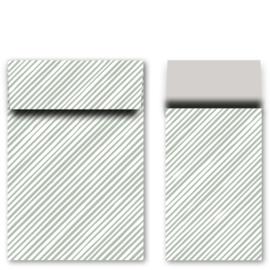 Kadozakjes M strepen groen/grijs | 5 stuks