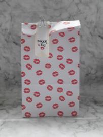 Blokbodemzak | Kiss me | 5 stuks