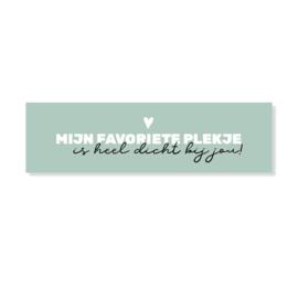Stickers | Mijn favoriete plekje | 10 stuks