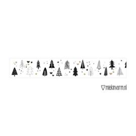 Washi tape | Kerstboompjes