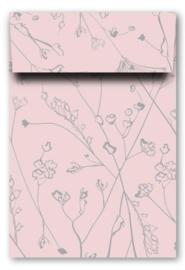 Kadozakjes L | botanisch roze / grijs | 5 stuks