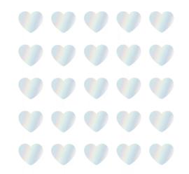 Stickers | Mini hart holografisch | 10 stuks
