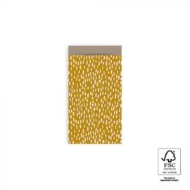 Kadozakjes S   Sparkles geel   5 stuks