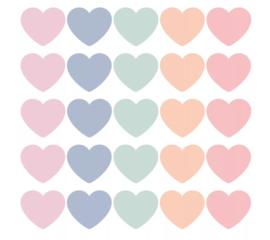 Stickers | Mini hart pastel | 10 stuks