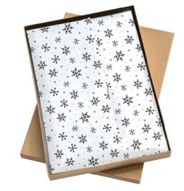 Tissuepapier | Sneeuwvlokken | 5 stuks