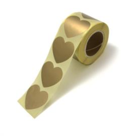 Stickers | Hart goud | 10 stuks