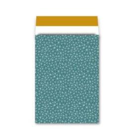 Kadozakjes XL | Grafiek petrol/oker | 5 stuks