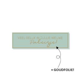 Stickers | Veel geluk in jullie nieuwe paleisje | 10 stuks