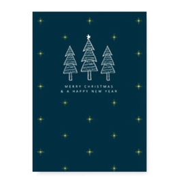 Kerstkaart | Merry christmas groen