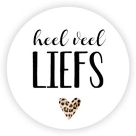 Stickers | Heel veel liefs | 10 stuks