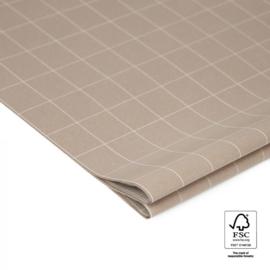 Tissuepapier | Grid grijs | 5 stuks