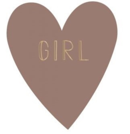 Stickers | girl warm pink | 5 stuks