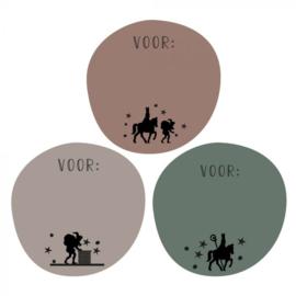 Stickers   Sinterklaas silhouette   9 stuks
