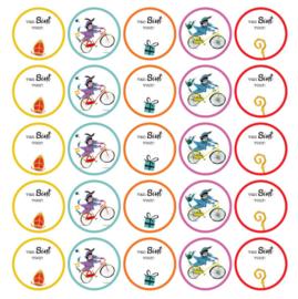 Stickers | Sinterklaas gekleurd |  10 stuks