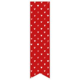 Stickers | Label Hartjes rood | 10 stuks