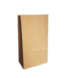 Blokbodemzak | Kraft bruin | 5 stuks