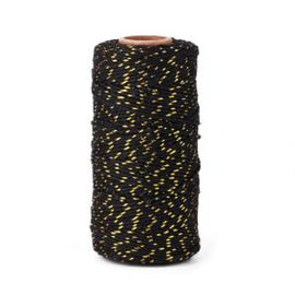Bakkerstouw | zwart metallic | 5 meter
