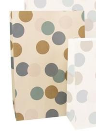 Blokbodemzak | Big confetti M | 5 stuks