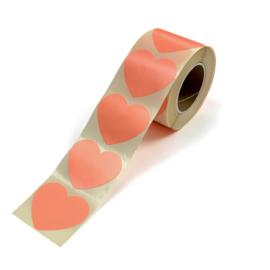 Stickers | Hart neon oranje | 10 stuks