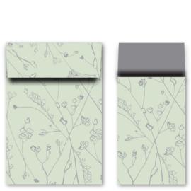 Kadozakjes M botanisch groen/grijs | 5 stuks