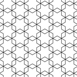 Tissuepapier | Grafiek zwart wit |  5 stuks