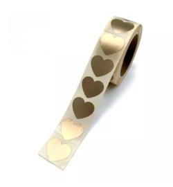 Stickers | Mini hart goud | 10 stuks