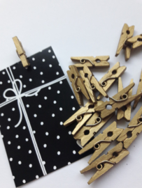 Knijper | goud | 2,5 cm | 10 stuks