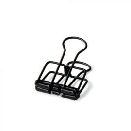 Binder clip S | Zwart | 19 mm
