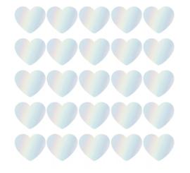 Stickers | Hart holografisch | 10 stuks