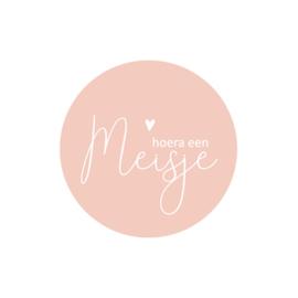 Sticker | Hoera een meisje | Per stuk