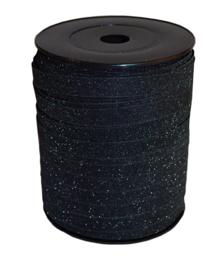 Krullint   zwart glitter   5 meter