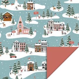 Kadopapier | Kerst landschap