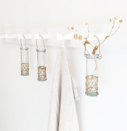 Glass hanging vase bamboo IB Laursen