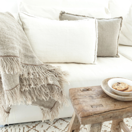Linen cushion Laura Off White