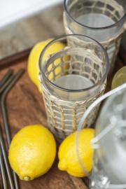 Glas met zeegras details IB Laursen